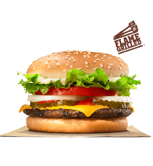 Our WHOPPER JRR Sandwich Features One Savory Flame Grilled Beef Patty Topped With Juicy Tomatoes Fresh Cut Lettuce American Cheese Creamy Mayonnaise